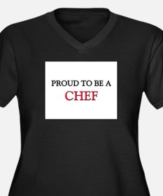 Proud to be a Chef Women's Plus Size V-Neck Dark T