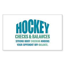 Checks and Balances Rectangle Sticker 10 pk)