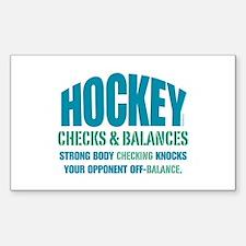 Checks and Balances Rectangle Decal