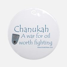 Chanukah Oil Ornament (Round)