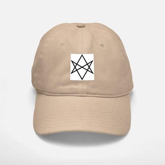 Unicursal Hexagram Baseball Baseball Cap (b/w)