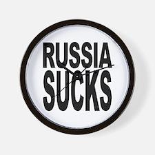 Russia Sucks Wall Clock