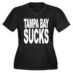 Tampa Bay Sucks Women's Plus Size V-Neck Dark T-Sh