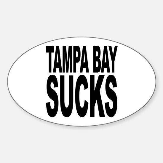 Tampa Bay Sucks Oval Decal
