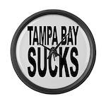 Tampa Bay Sucks Large Wall Clock