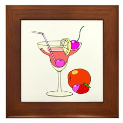Cosmopolitan Cocktail Framed Tile