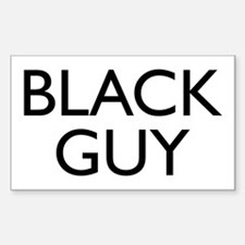 BLACK GUY Rectangle Decal