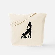 Lesbian Sub Ass Kiss Tote Bag