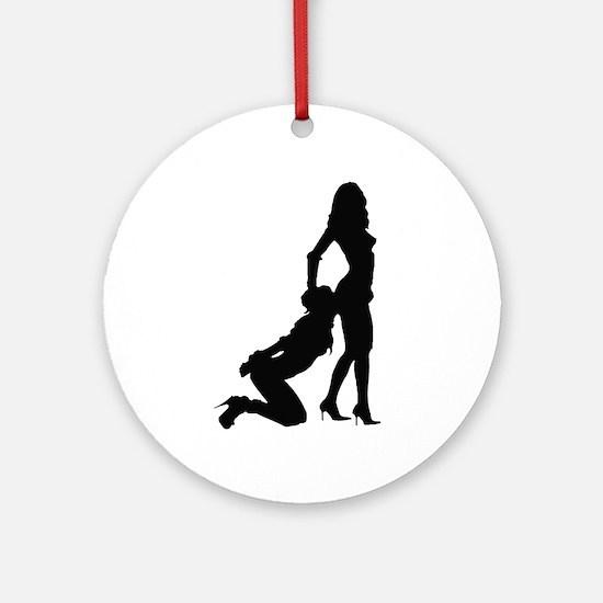 Lesbian Sub Ass Kiss Ornament (Round)