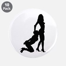 "Lesbian Sub Ass Kiss 3.5"" Button (10 pack)"