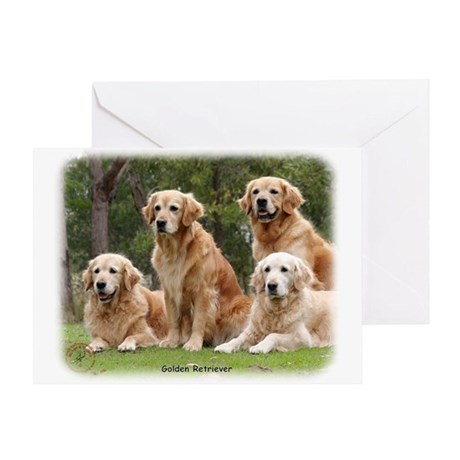 Golden Retriever 9Y180D-149 Greeting Card