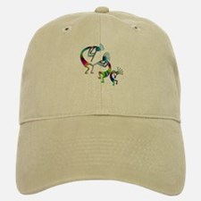 Three Colorful Kokopellis Baseball Baseball Cap