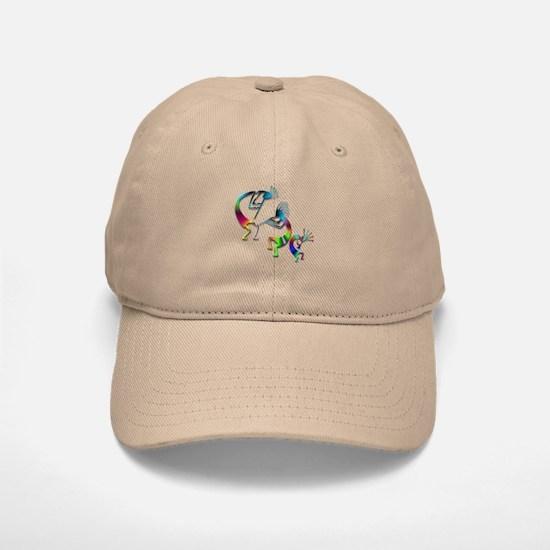 Three Colorful Kokopellis Baseball Baseball Cap