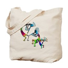Three Colorful Kokopellis Tote Bag
