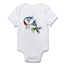 Three Colorful Kokopellis Infant Bodysuit