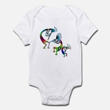 Three Colorful Kokopellis Infant Bodysuit
