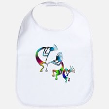 Three Colorful Kokopellis Bib