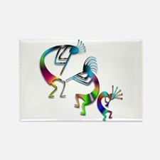 Three Colorful Kokopellis Rectangle Magnet