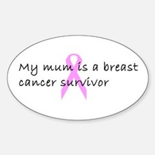 Breast Cancer Oval Decal