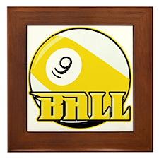9 Ball Framed Tile