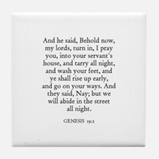 GENESIS  19:2 Tile Coaster