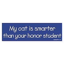 Cat/Honor Student Bumper Bumper Sticker