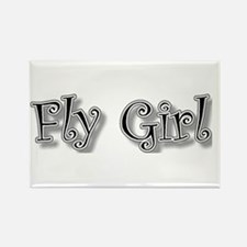 fly girl Rectangle Magnet