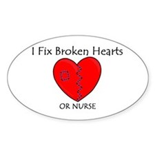 Heart Mender RN Oval Decal