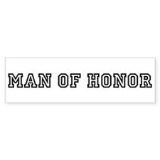 Man of Honor Bumper Car Sticker