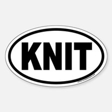 KNIT Euro Oval Bumper Stickers