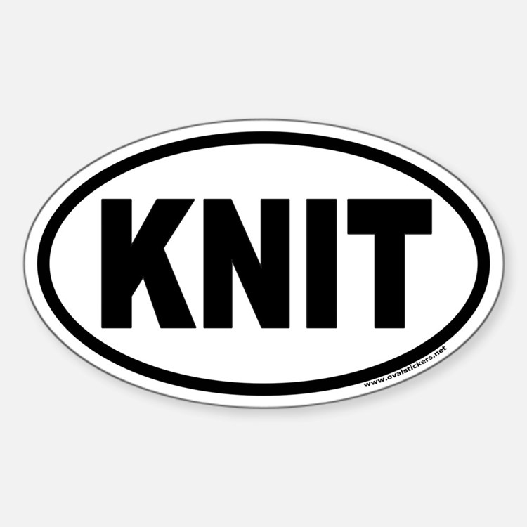 KNIT Euro Oval Decal
