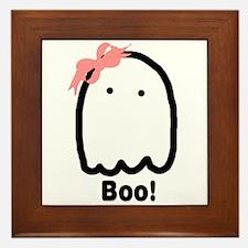Boo! Framed Tile