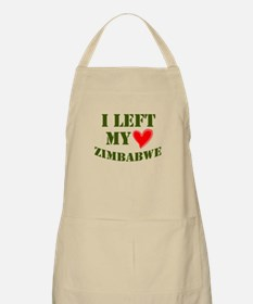 LEFT MY HEART 'IN' ZIMBABWE BBQ Apron