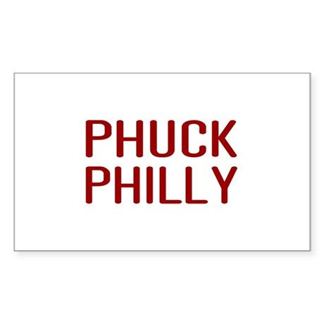 Phuck Philly 2 Rectangle Sticker