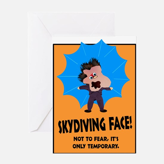 Skydiving Greeting Card