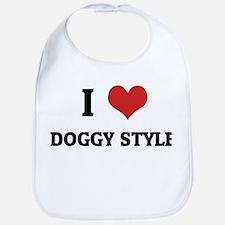 I Love Doggy Style Bib