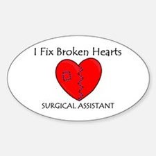 Heart Mender SA Oval Decal