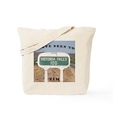 Victoria Falls Sign Post Tote Bag