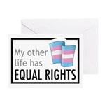 My Other Life Trans Greeting Cards (Pk of 20)