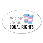 My Other Life Trans Oval Sticker (10 pk)