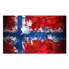 Norwegian Rectangle Bumper Sticker Decal