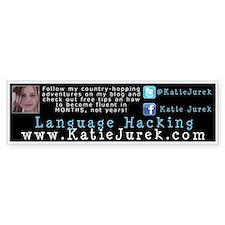 Katie Jurek Language Hacking Bumper Sticker Decal