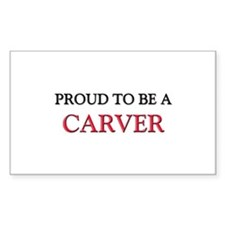 Proud to be a Carver Rectangle Decal