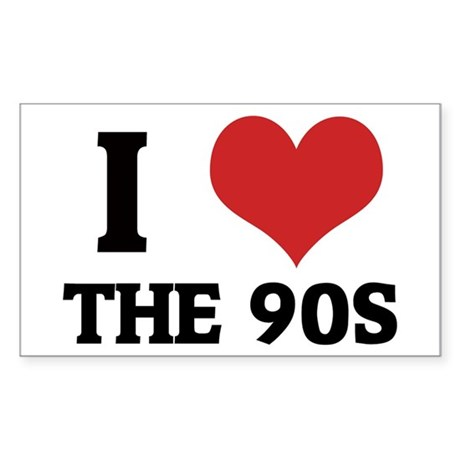 I Love the 90s Rectangle Sticker