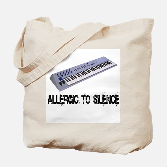 Allergic to Silence Keyboard Tote Bag