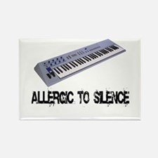 Allergic to Silence Keyboard Rectangle Magnet