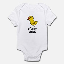 Rugby Chick Infant Bodysuit