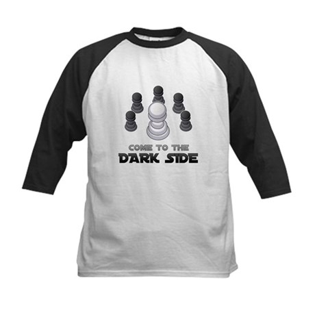 Chess - Come To The Dark Side Kids Baseball Jersey