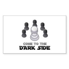 Chess - Come To The Dark Side Rectangle Decal