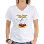 Beer Pong God Women's V-Neck T-Shirt